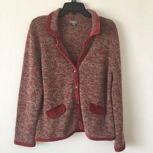 J. Jill Button Down Sweater Cardigan Size Medium
